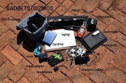 Camera: Nikon d-7000, Tripod: SLICK sprint mini 2, Laptop: Macbook Air, GPS: Garmin inReach Explorer +, Batter pack: Chargetech, External hardrive: SP silicon power