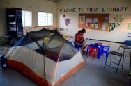 Camping in school with funding from the mining industry