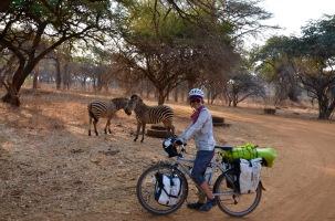 Cycling into Eureka campgrounds!