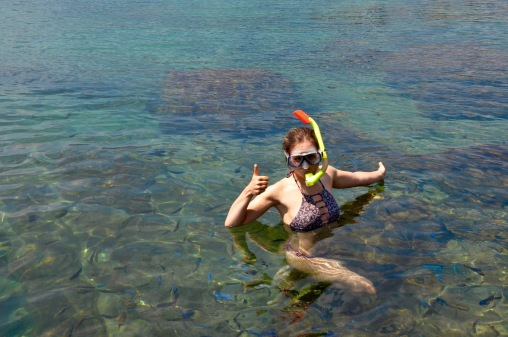 Snorkeling with the cichlids