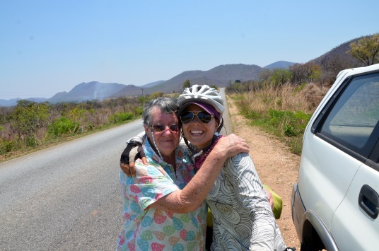 Our adopted Zimbabwean mom found us on the road!!