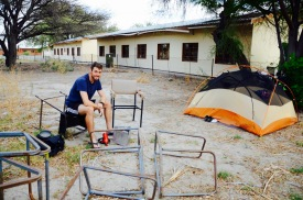 Camping at a school in Motopi after the clinic turned us away. We were glad in the end - it was surprisingly quiet for a school. Great spot!