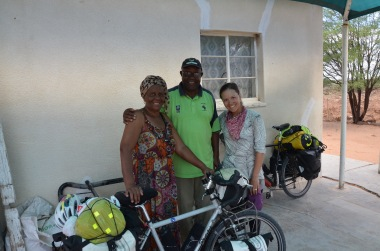 Our newly adopted Namibian family took us in for a wonderful meal and conversation