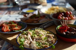 Wonderful dinner by 'Warmshowers' host in Walvis Bay