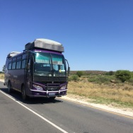 Overlander tour bus - long trip