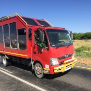 Overlander tour bus - short trip