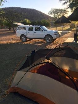 Luxurious car camping!