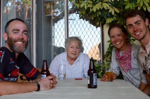Our new adopted grandmother, Eva, on Thanksgiving