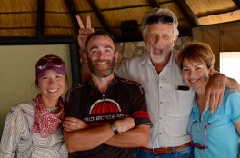 A couple we met who shared baked goods with us as we planned the rest of our route through Namibia