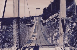 One of the several suspension bridges Tsitsikamma National Park