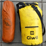 Tent and sleeping bags!