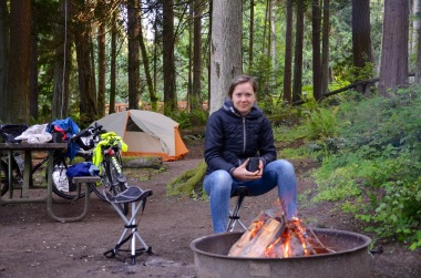 Someone left some firewood at our campsite for us to enjoy! @Sequim State Park