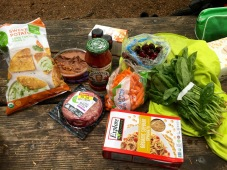 Definitely going gourmet with this campsite meal..